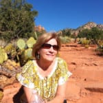 SpiritQuest Retreat client in the sacred red rocks of Sedona