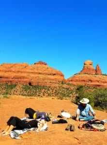 SpiritQuest Retreats Shamanic Group Retreat Session in the sacred red rock Vortexes of Sedona