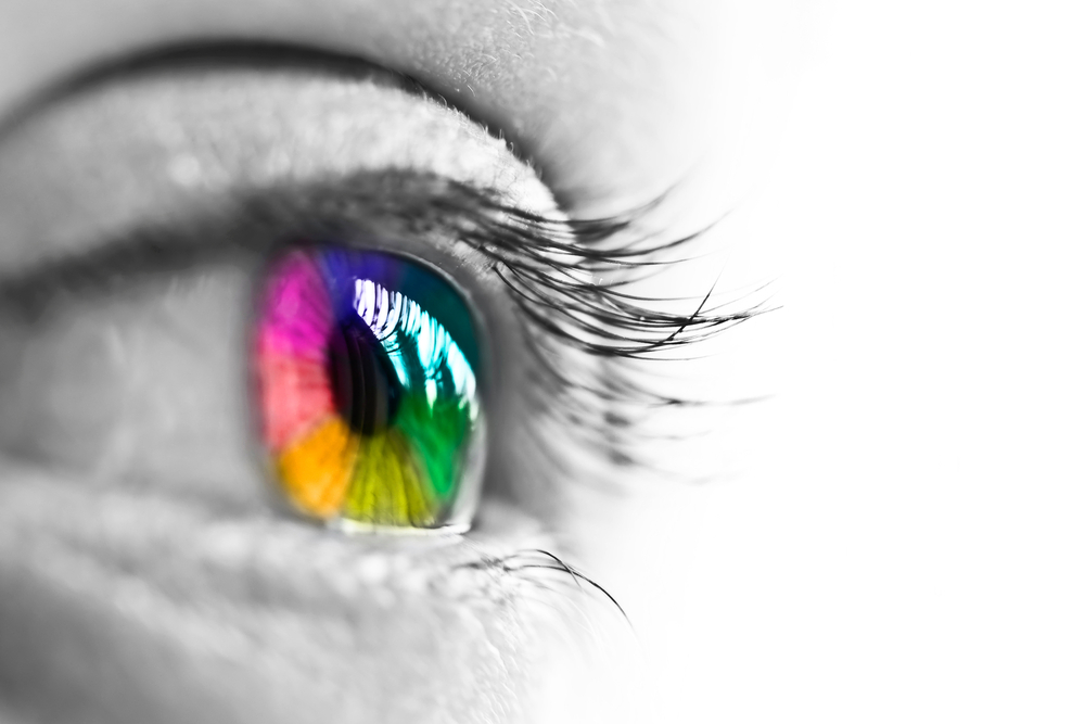 Colorful Eye of a Woman for Self-Discovery